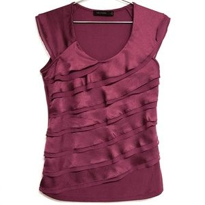 Stunning LIMITED raspberry shimmery layered tank S